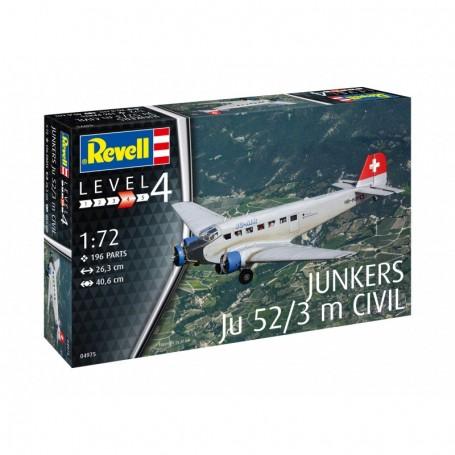 REVELL 1/72 AIRCRAFT JUNKERS JU52/3M CIVIL 04975
