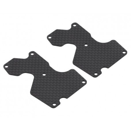 E2156 Mugen 1mm MBX8 Graphite Rear Lower Arm Plate (2)