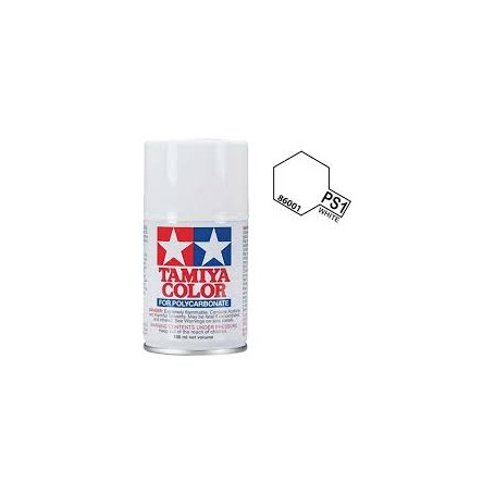 PS-01 White Policarbonate Spray 100ml Tamiya