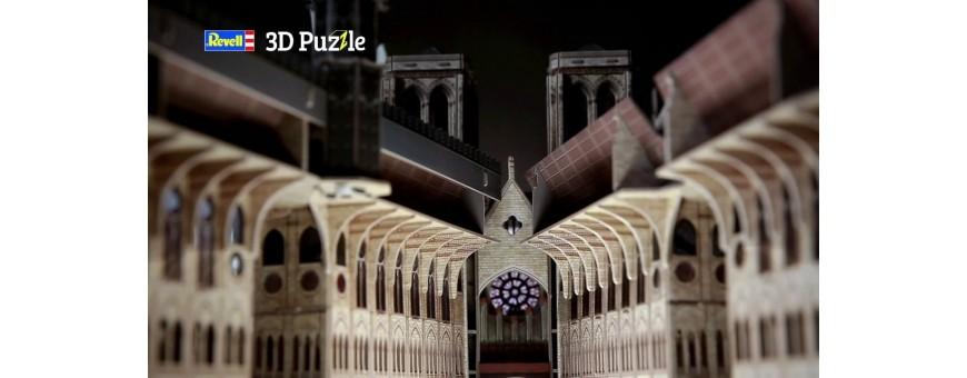 Puzzle em 3D com Edificios e Monumentos Historicos tridimensionais para Montagen.